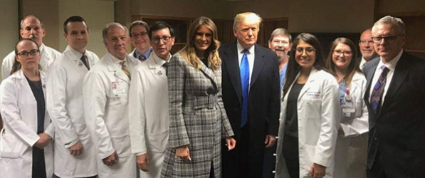 President and First Lady Visit UPMC Presbyterian | Department of