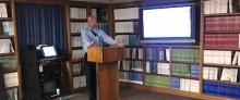 Dr. Donald Keenan lecturing
